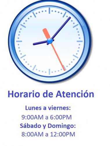 horarios de atencion